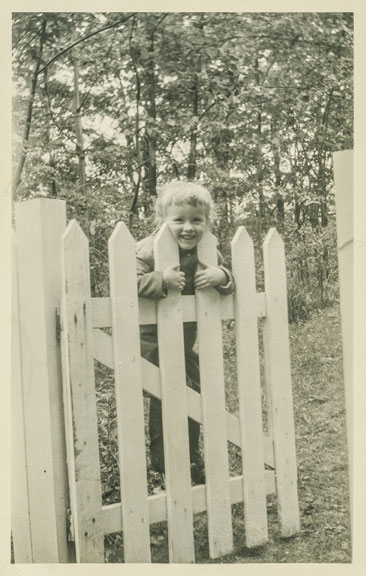 susan on a gate